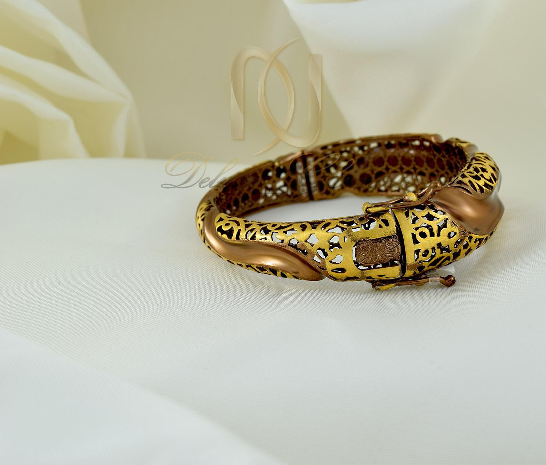 دستبند نقره زنانه دو رنگ طرح پرستيژ ds-n293