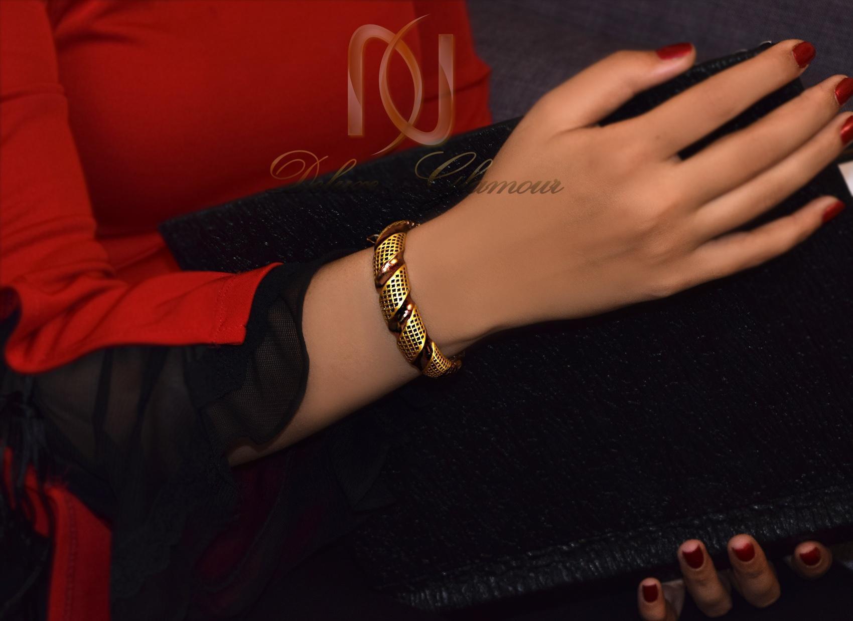 دستبند نقره زنانه دو رنگ طرح پرستیژ ds-n291