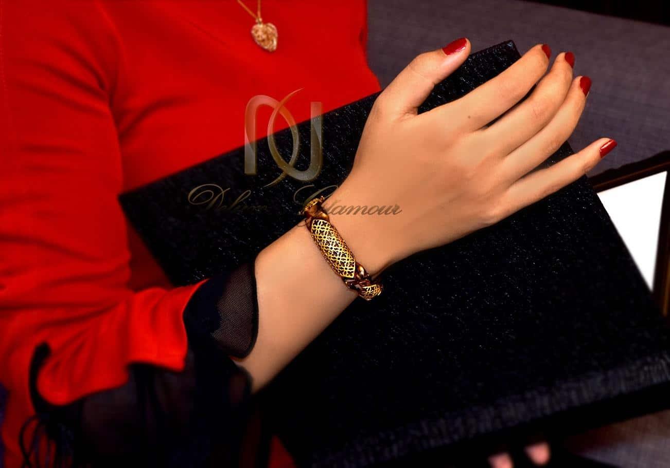 دستبند نقره زنانه دو رنگ طرح پرستیژ ds-n292