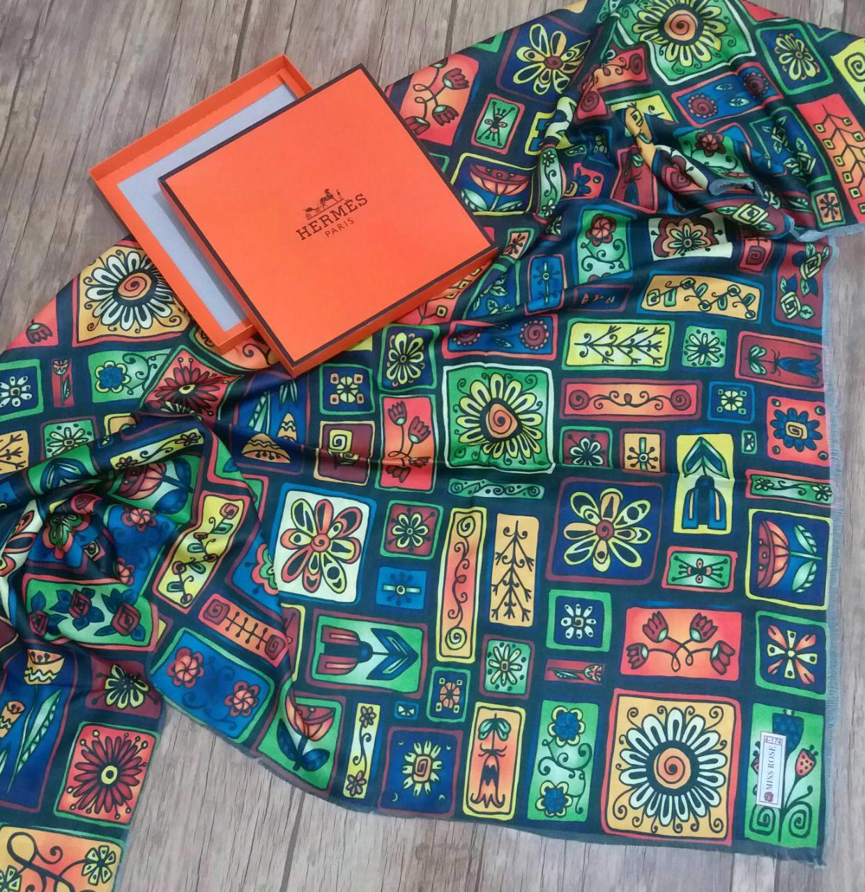 روسري نخي پاييزي قواره بزرگ sr-n146