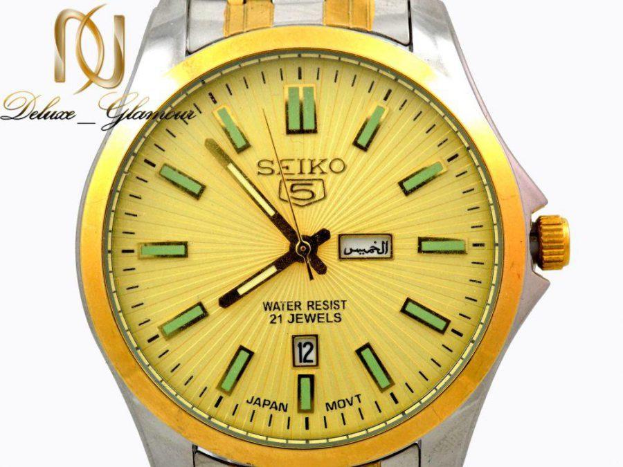 ساعت مچي مردانه SEIKO 5 دو رنگ WH-N112 از نماي نزديك