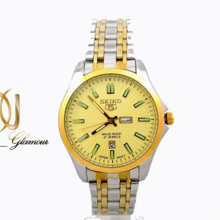 ساعت مچي مردانه SEIKO 5 دو رنگ WH-N112 از نماي سفيد