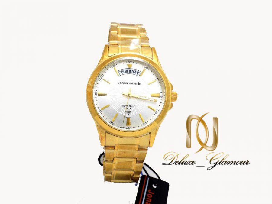 ساعت مچي مردانه jonas jasmin طلايي wh-n111 از نماي سفيد