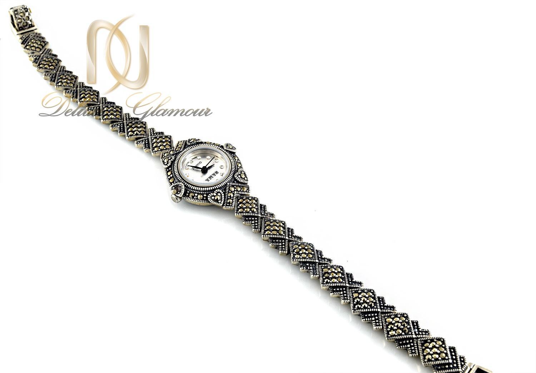 ساعت نقره زنانه سیاه قلم صفحه گرد wh-n104