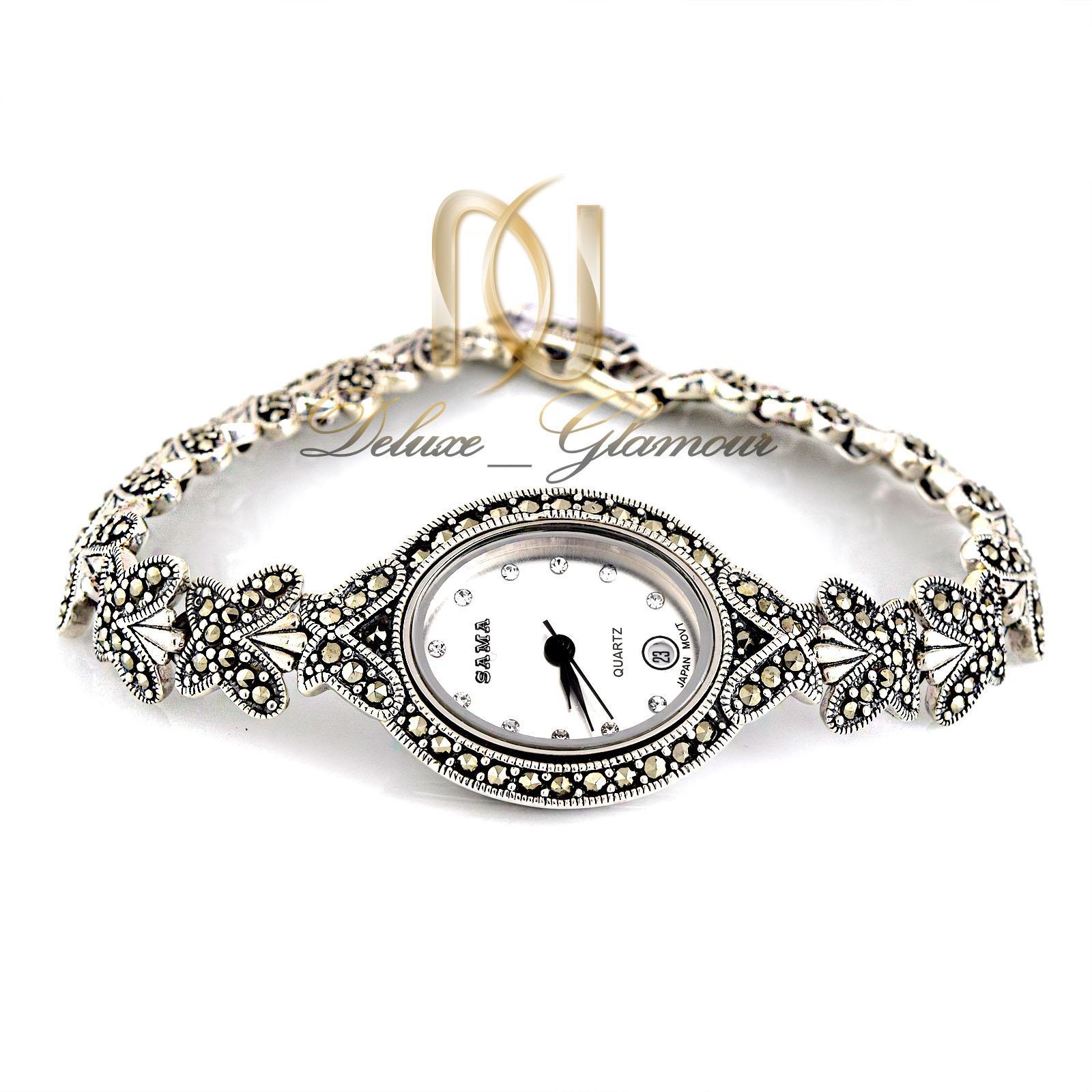 ساعت نقره زنانه طرح پروانه wh-n107 از نماي سفيد