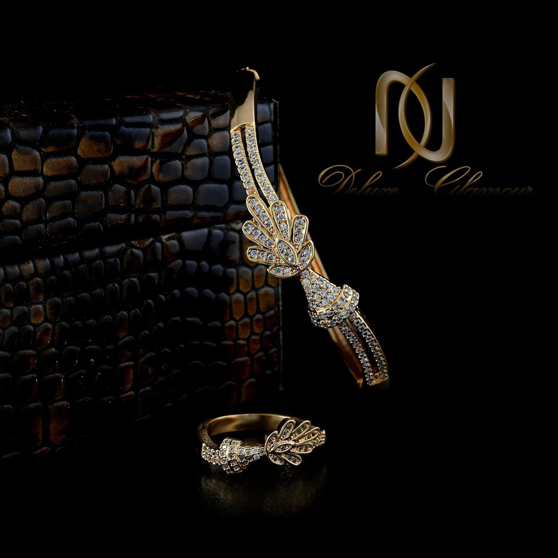 ست دستبند و انگشتر زنانه استیل  ns-n239
