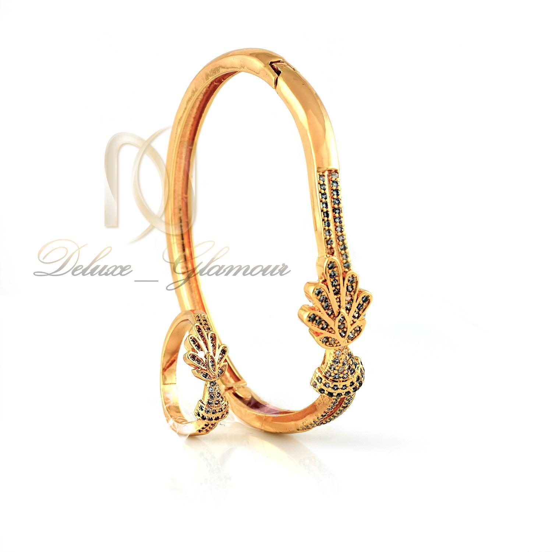 ست دستبند و انگشتر زنانه استیل ns-n239 از نمای روبرو