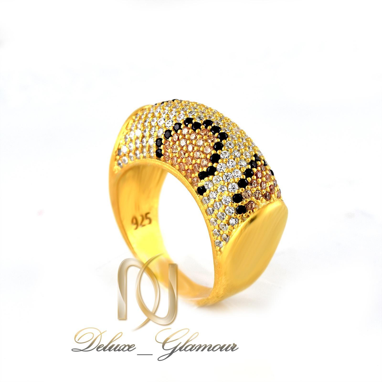 ست دستبند و انگشتر نقره طرح پوست مار ns-n233 از نماي انگشتر