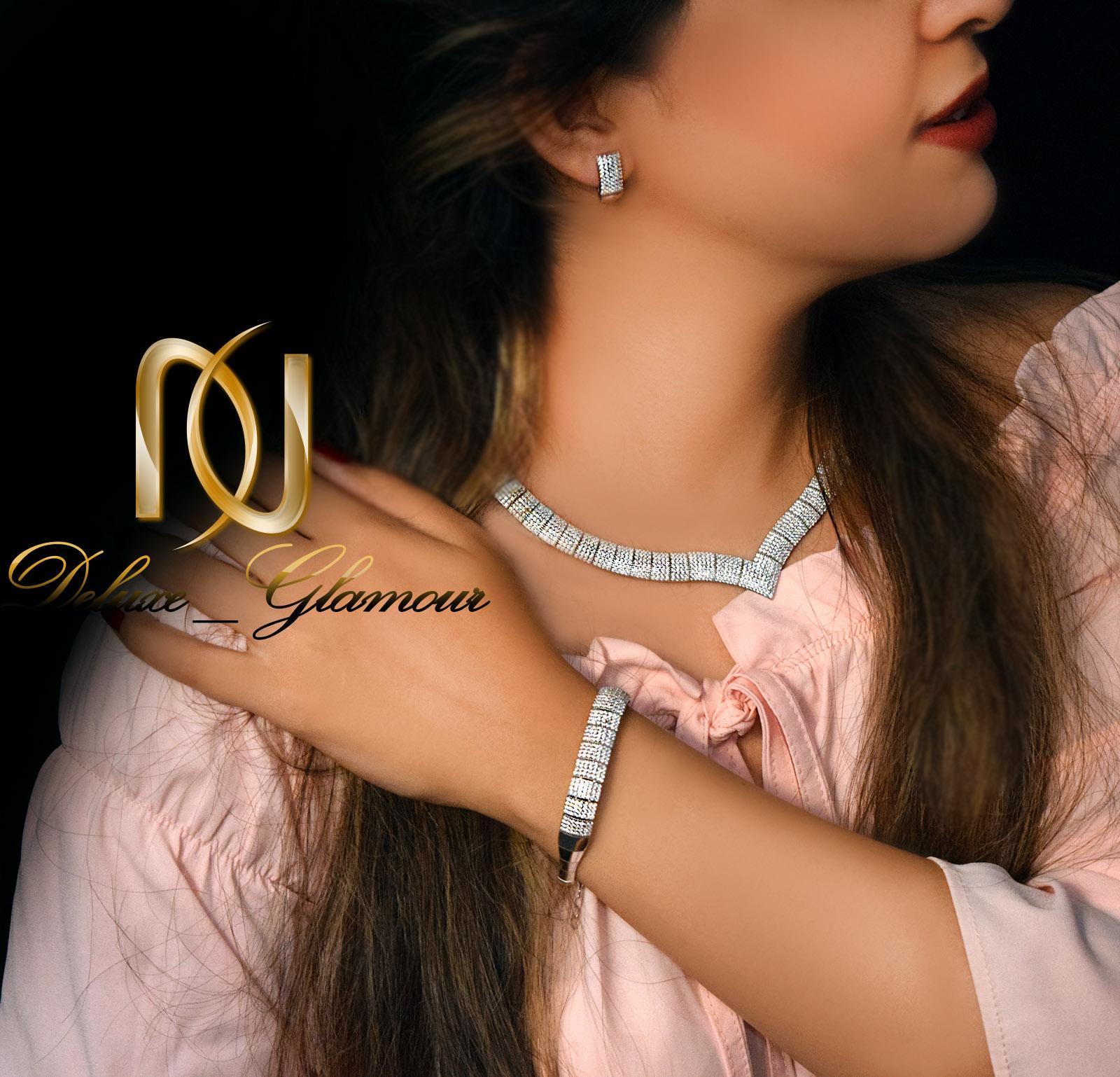 سرویس نقره عروس جواهری طرح تنیسی ns-n230