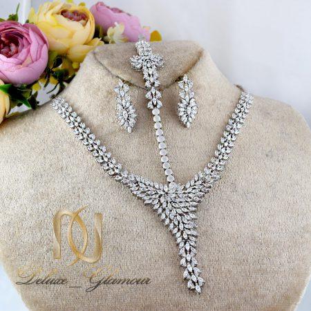 سرویس نقره عروس جواهری طرح هفت ns-n234 از نمای روبرو