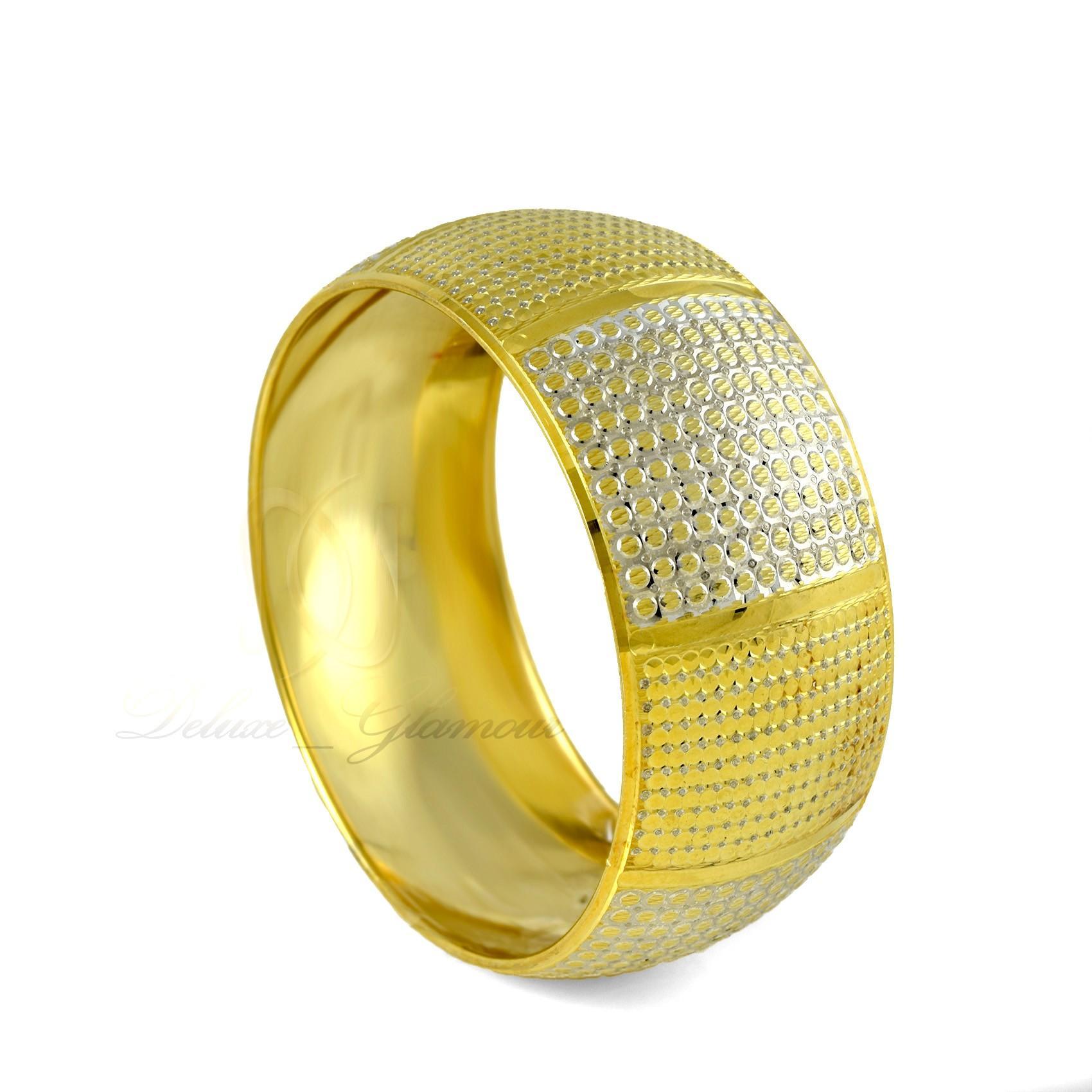 النگو تك پوش نقره دو رنگ طرح طلا al-n110 (1)