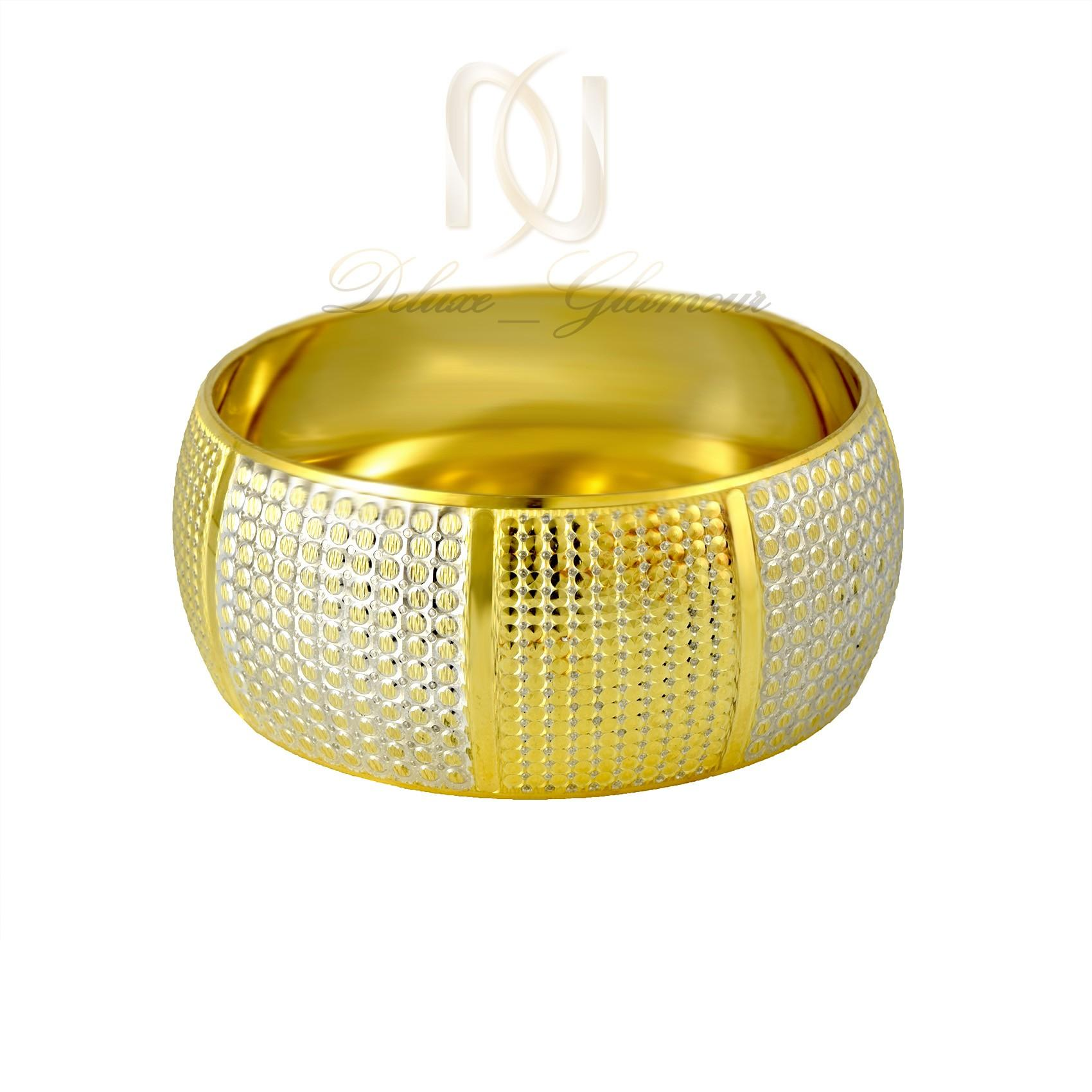 النگو تك پوش نقره دو رنگ طرح طلا al-n110 (2)