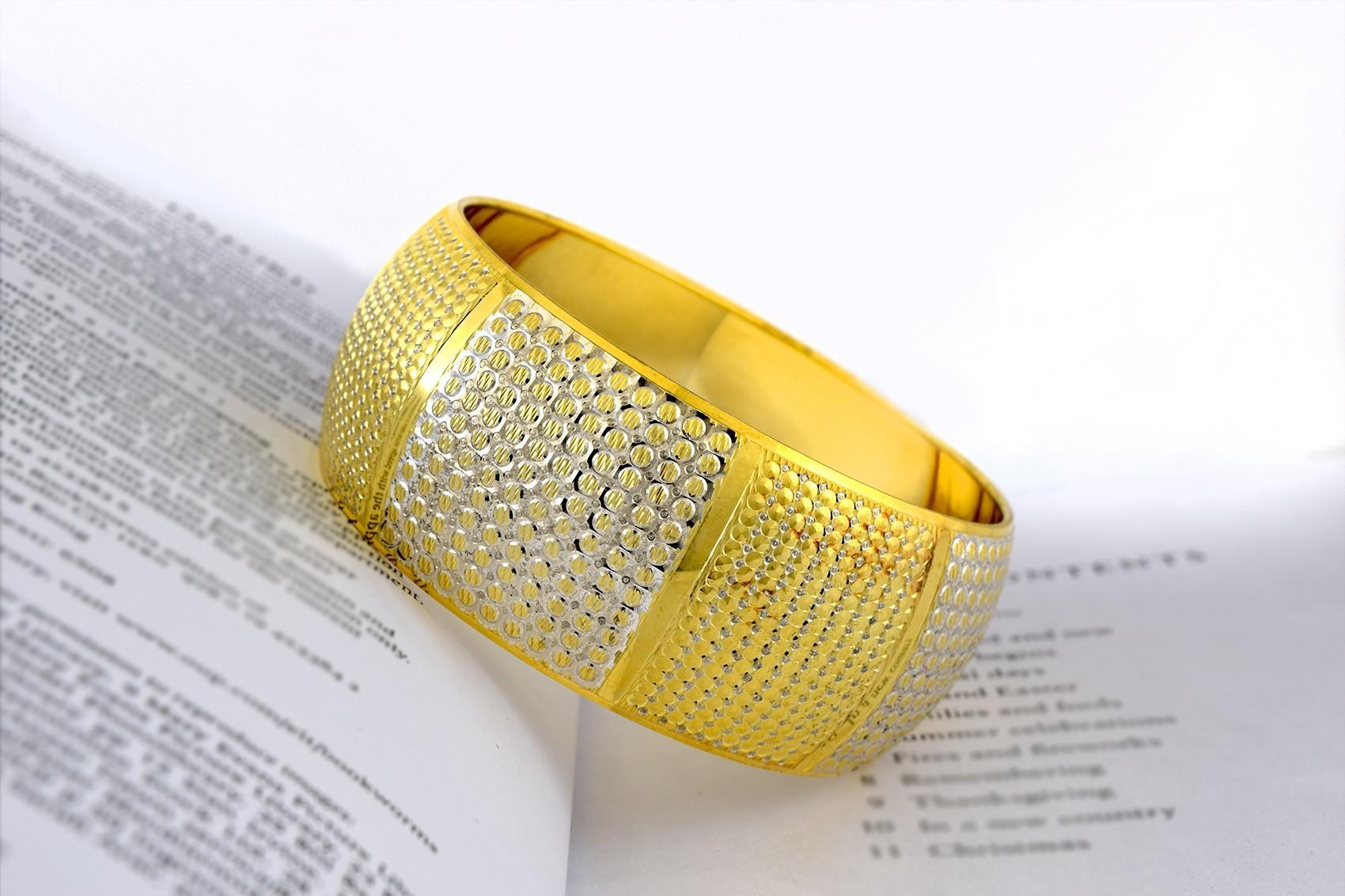 النگو تك پوش نقره دو رنگ طرح طلا al-n110 (3)
