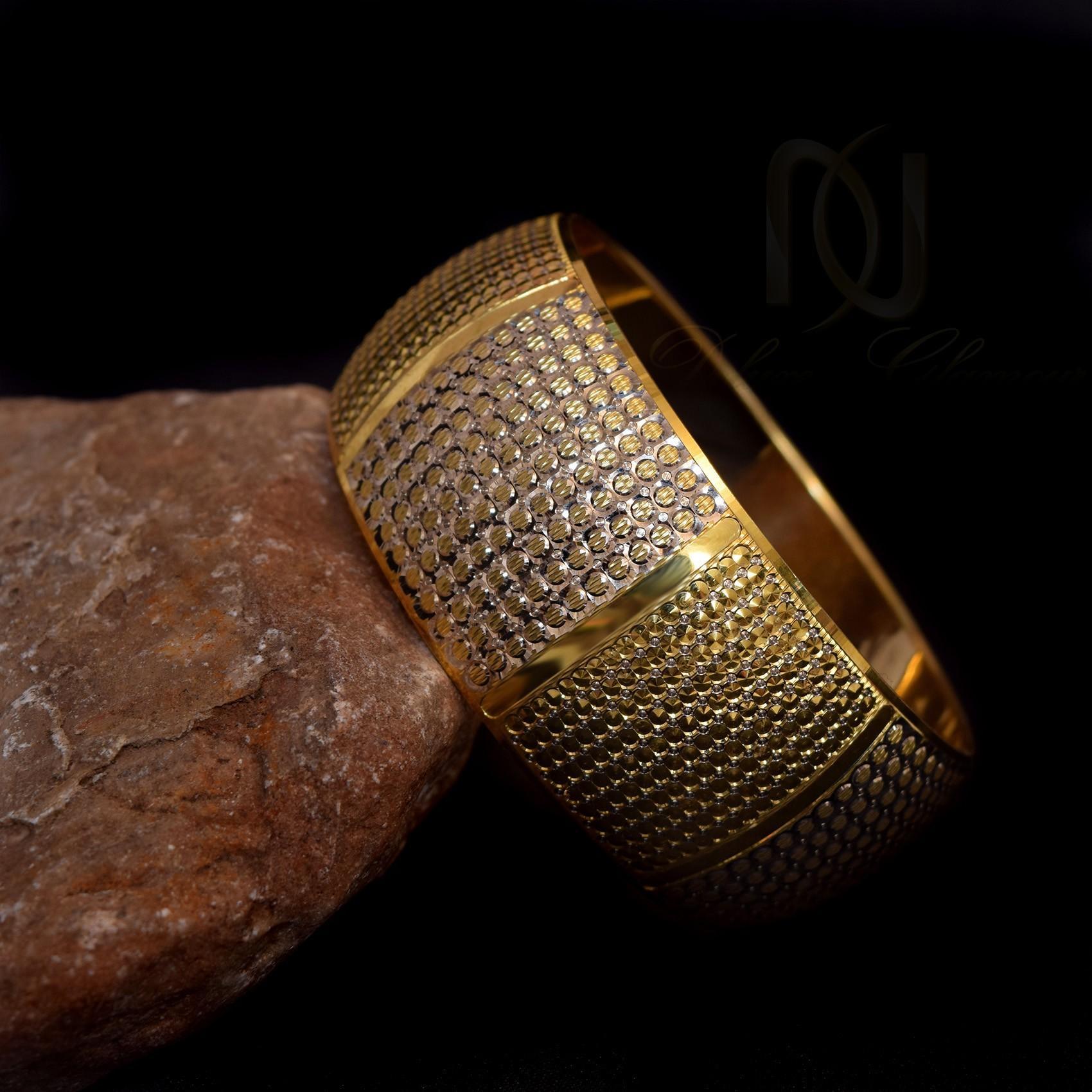 النگو تك پوش نقره دو رنگ طرح طلا al-n110 (4)