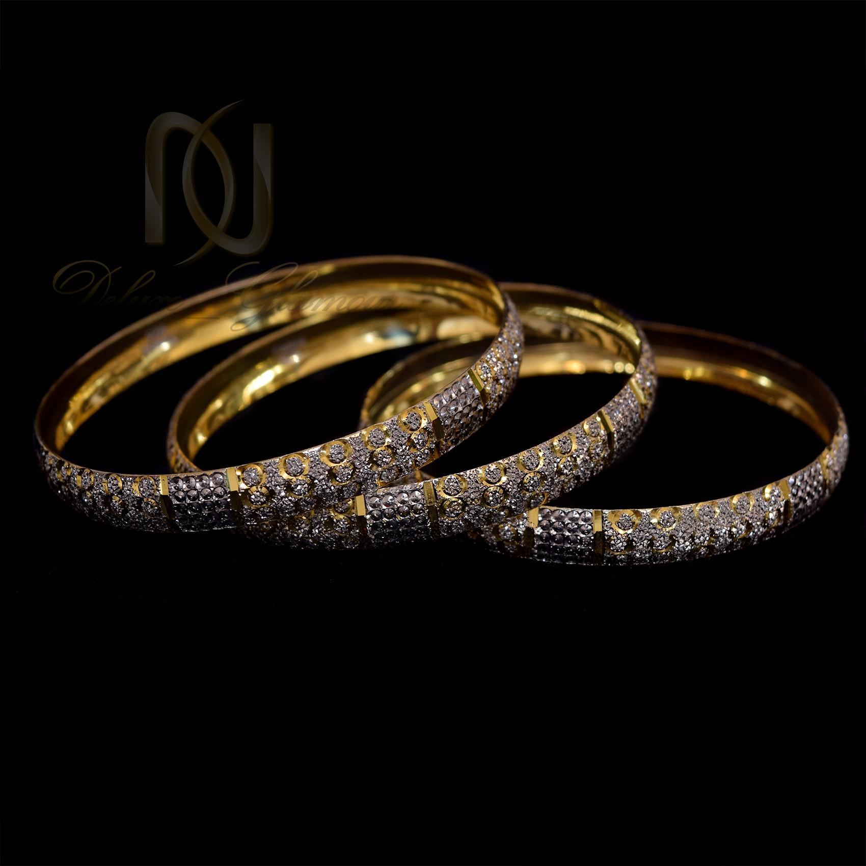 النگو نقره تراش طرح طلا al-n113 از نماي مشكي