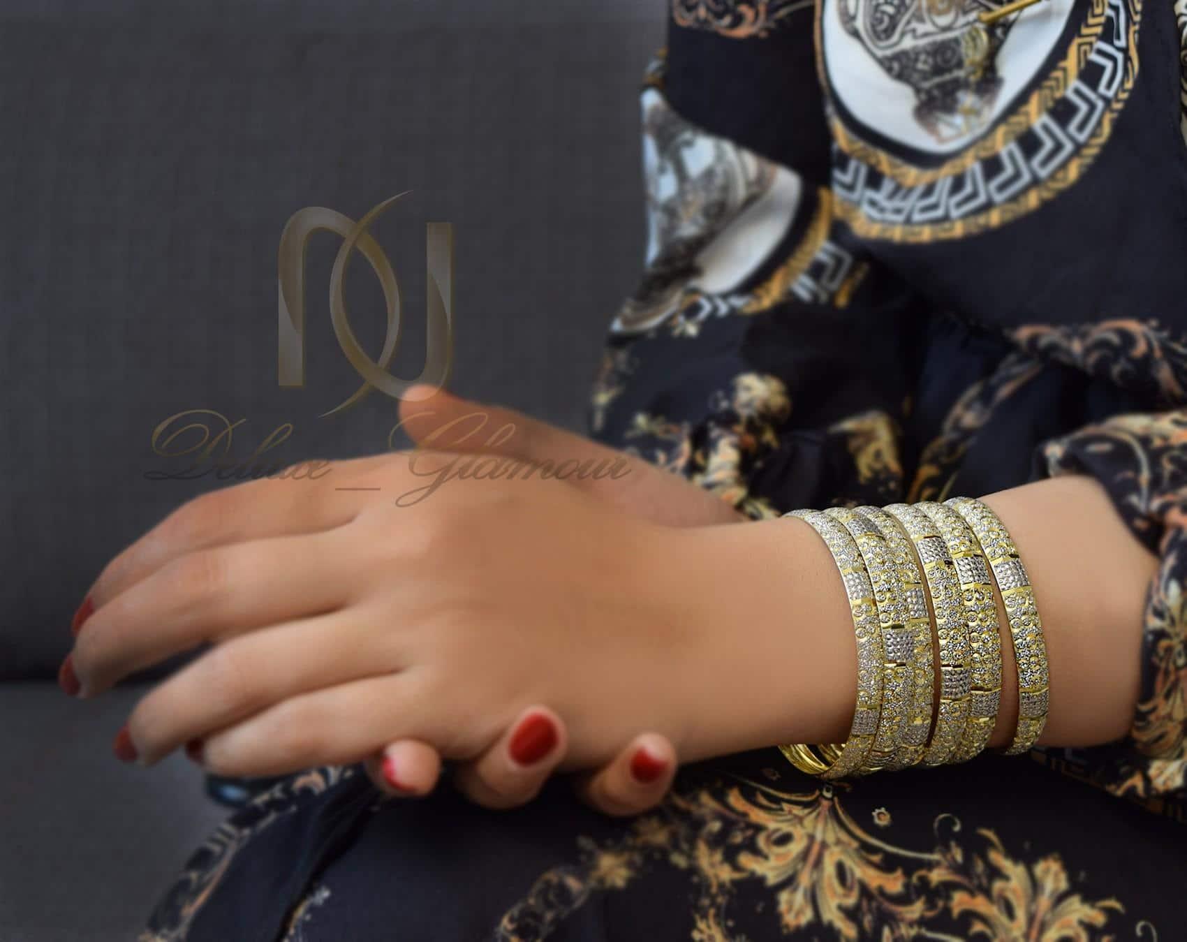 النگو نقره تراش طرح طلا al-n113 از نماي روي دست