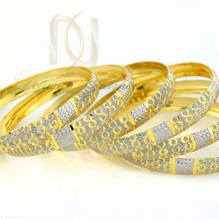النگو نقره تراش طرح طلا al-n113 از نماي سفيد