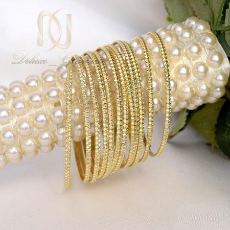 النگو نقره زنانه سيمي طرح طلا al-n112 از نماي روبرو