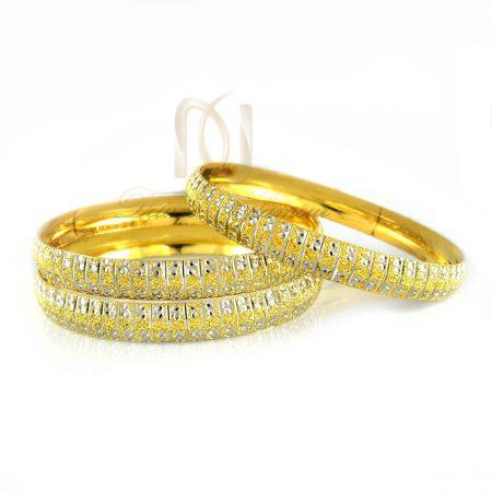 النگو نقره زنانه طرح طلای دو رنگ al-n108