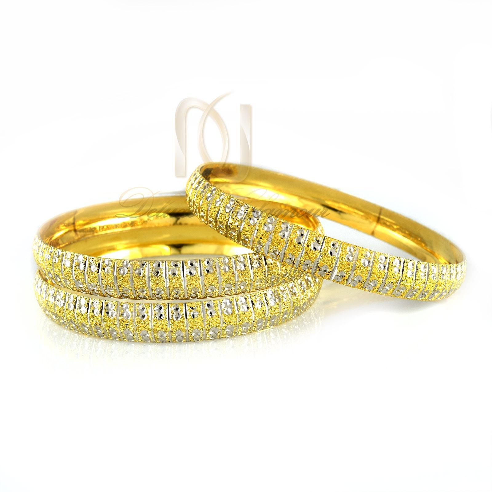 النگو نقره زنانه طرح طلای دو رنگ al-n108 از نمای سفید