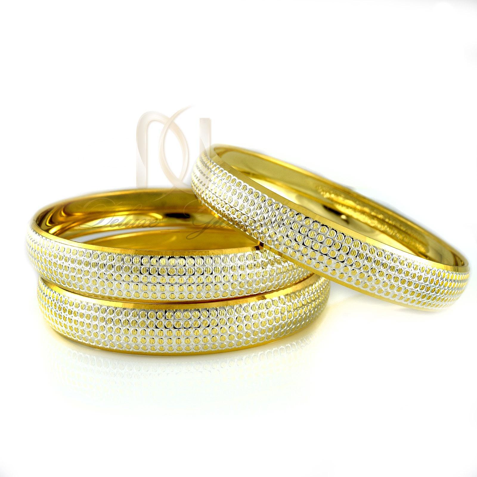 النگو نقره طرح طلای دو رنگ al-n107 از نمای سفید