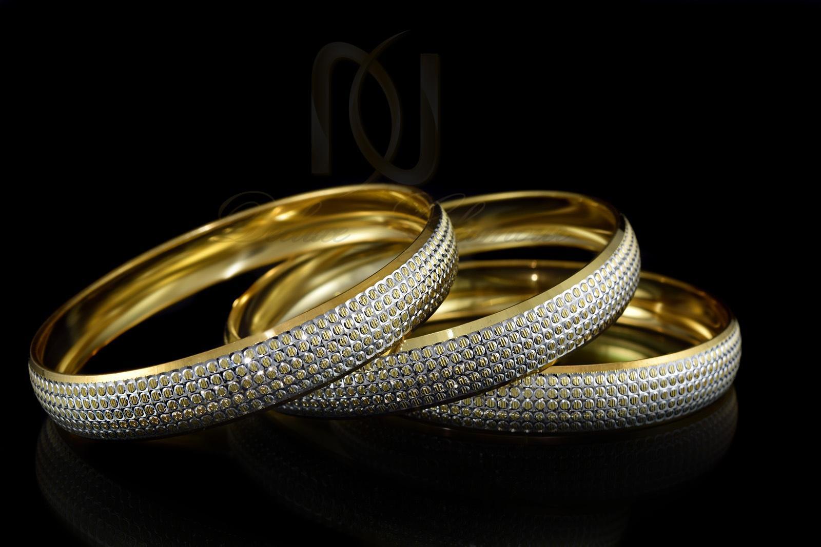 النگو نقره طرح طلای دو رنگ al-n107