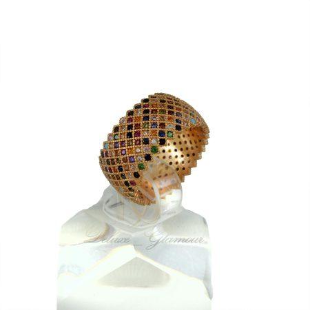 انگشتر نقره زنانه رزگلد طرح پرنس rg-n335 از نماي روبرو