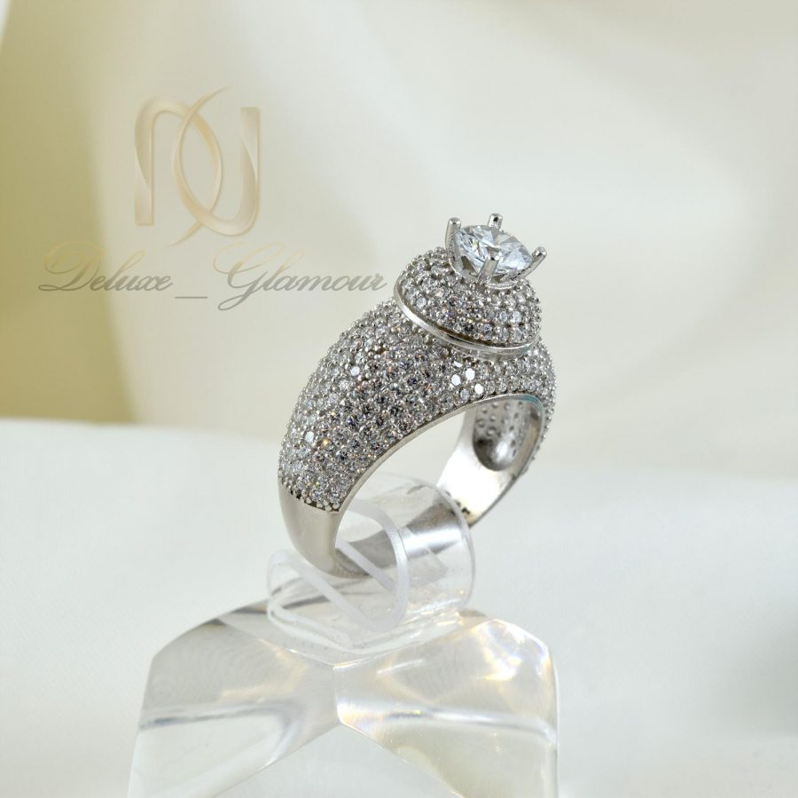 انگشتر نقره زنانه طرح تگ نگين rg-n320 از نماير روبرو