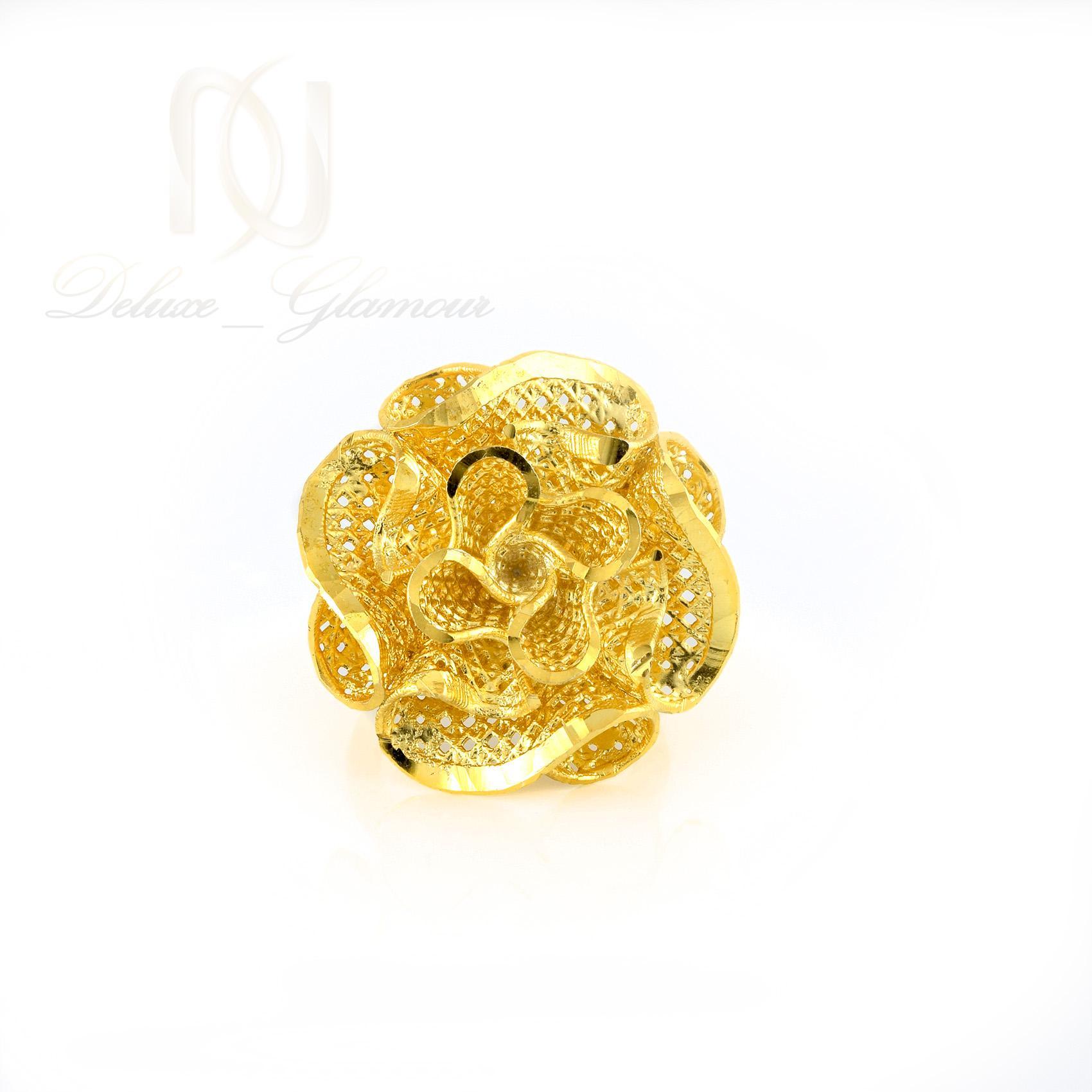 انگشتر نقره زنانه طرح طلاي گل RG-N327