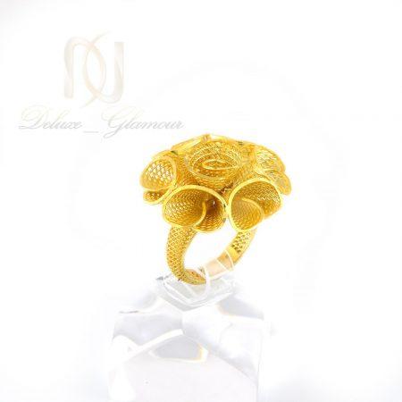 انگشتر نقره زنانه طرح فيوژن طلايي rg-n326 از نماي كنار