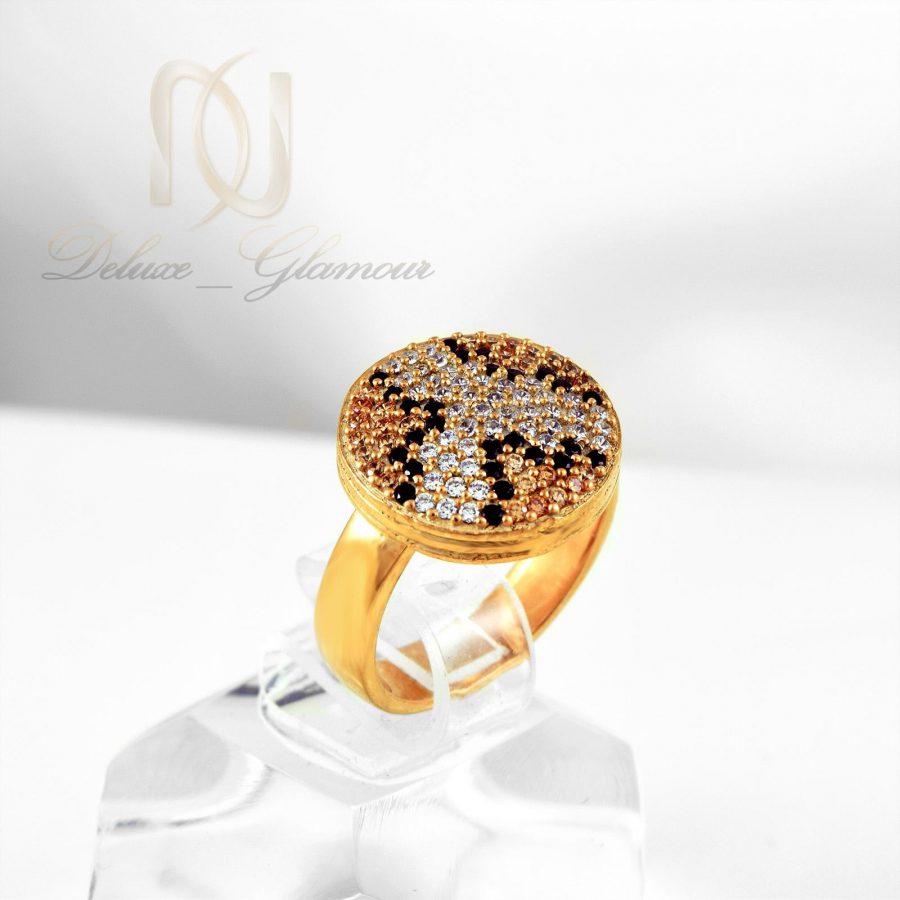انگشتر نقره زنانه طرح پوست مار rg-n324 از نمای روبرو