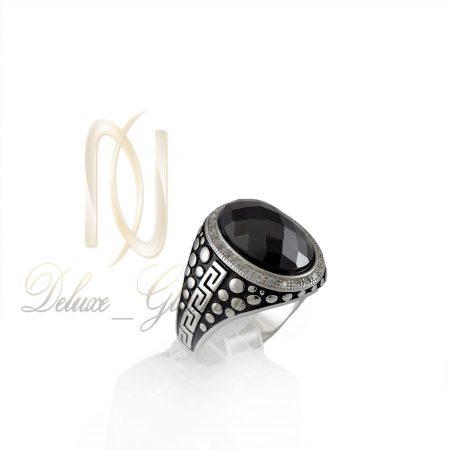 انگشتر نقره مردانه طرح حباب rg-n332 از نماي روبرو