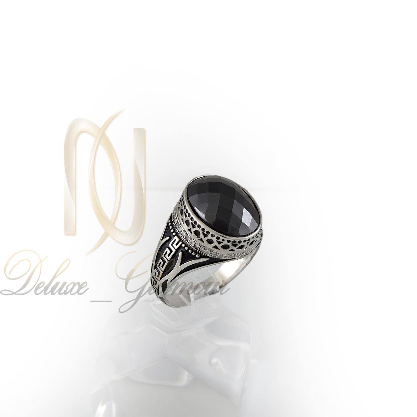 انگشتر نقره مردانه طرح ورساچه rg-n333 از نماي روبرو