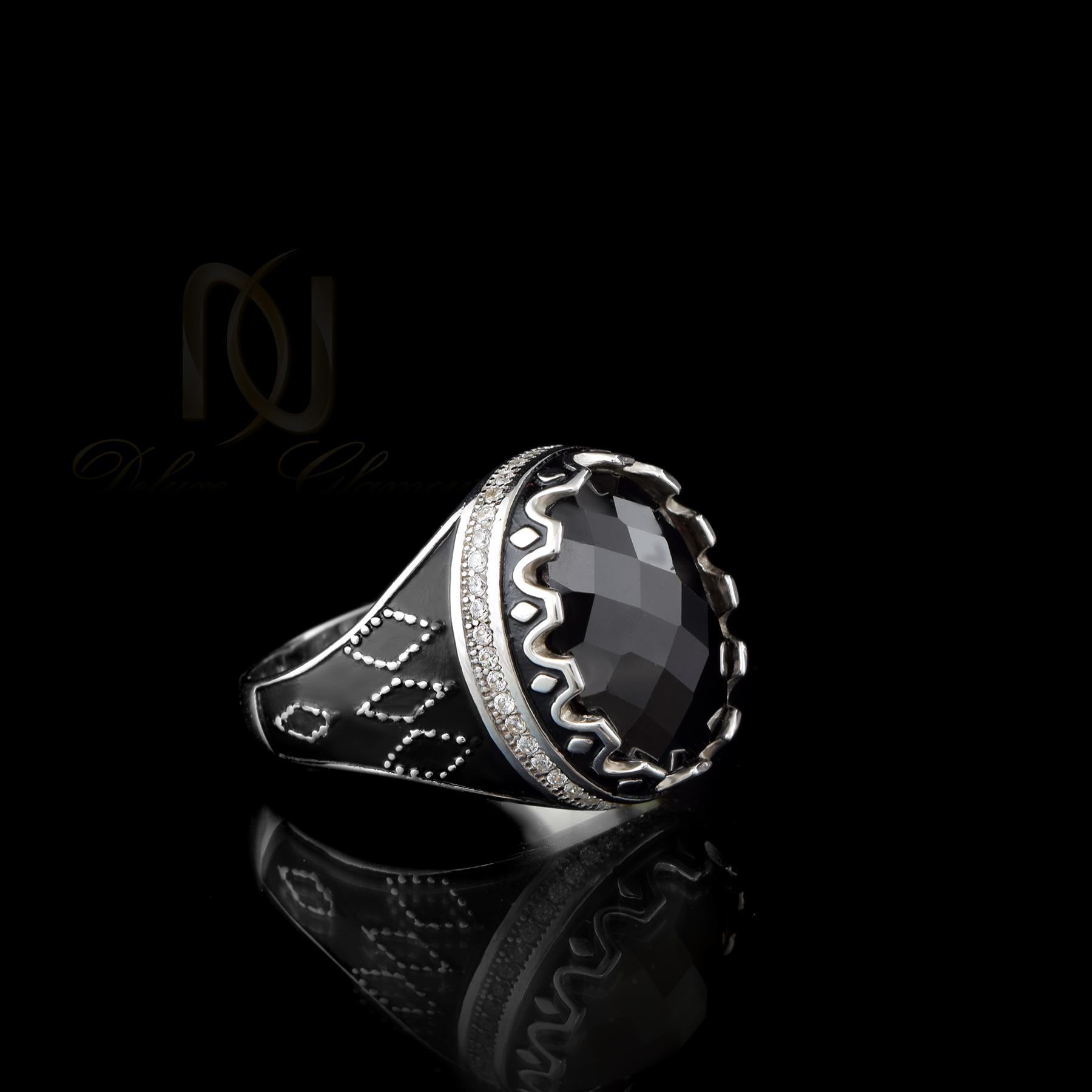 انگشتر نقره مردانه نگين عقيق rg-n334