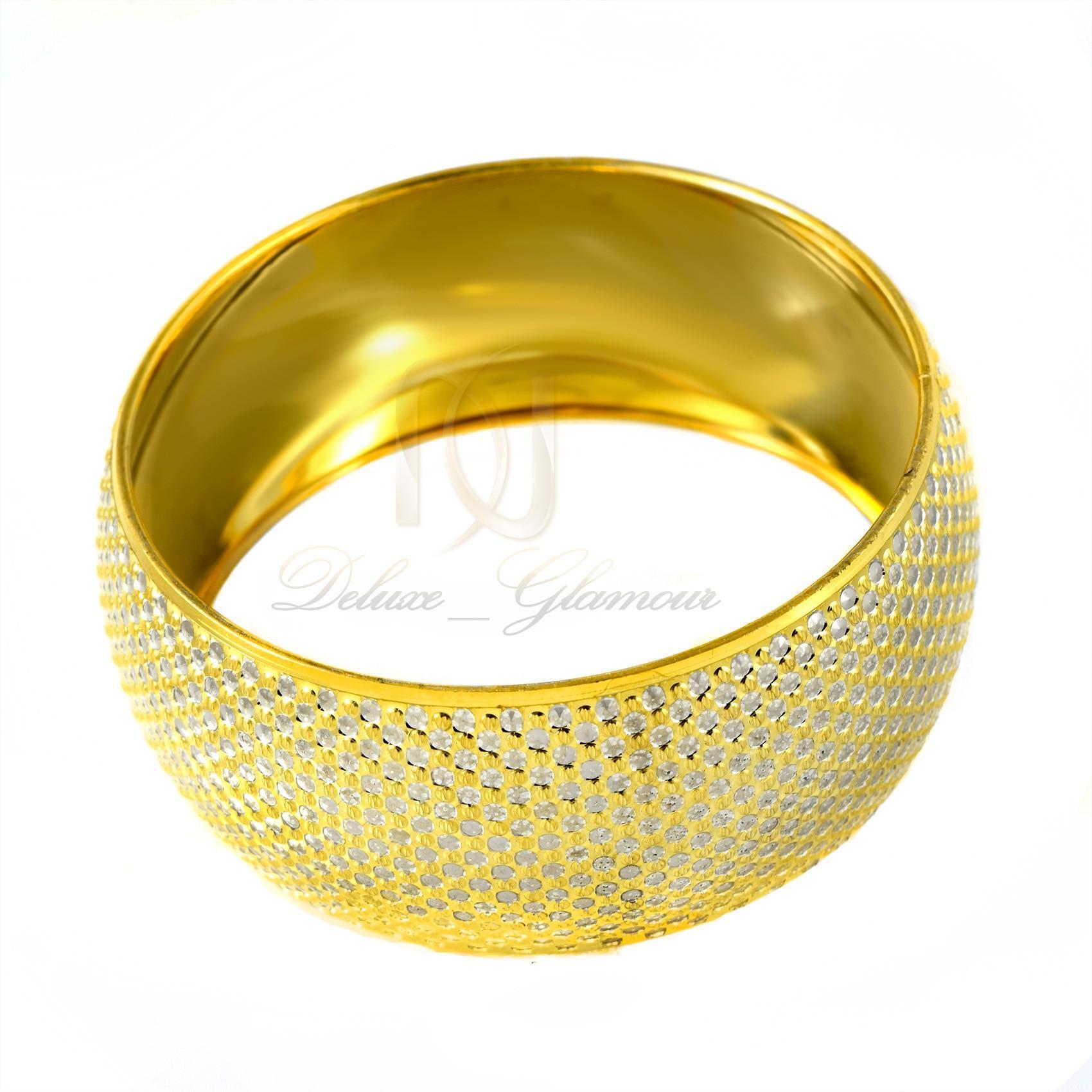 دستبند تك پوش نقره زنانه طرح طلا ds-n303 - عکس از بالا