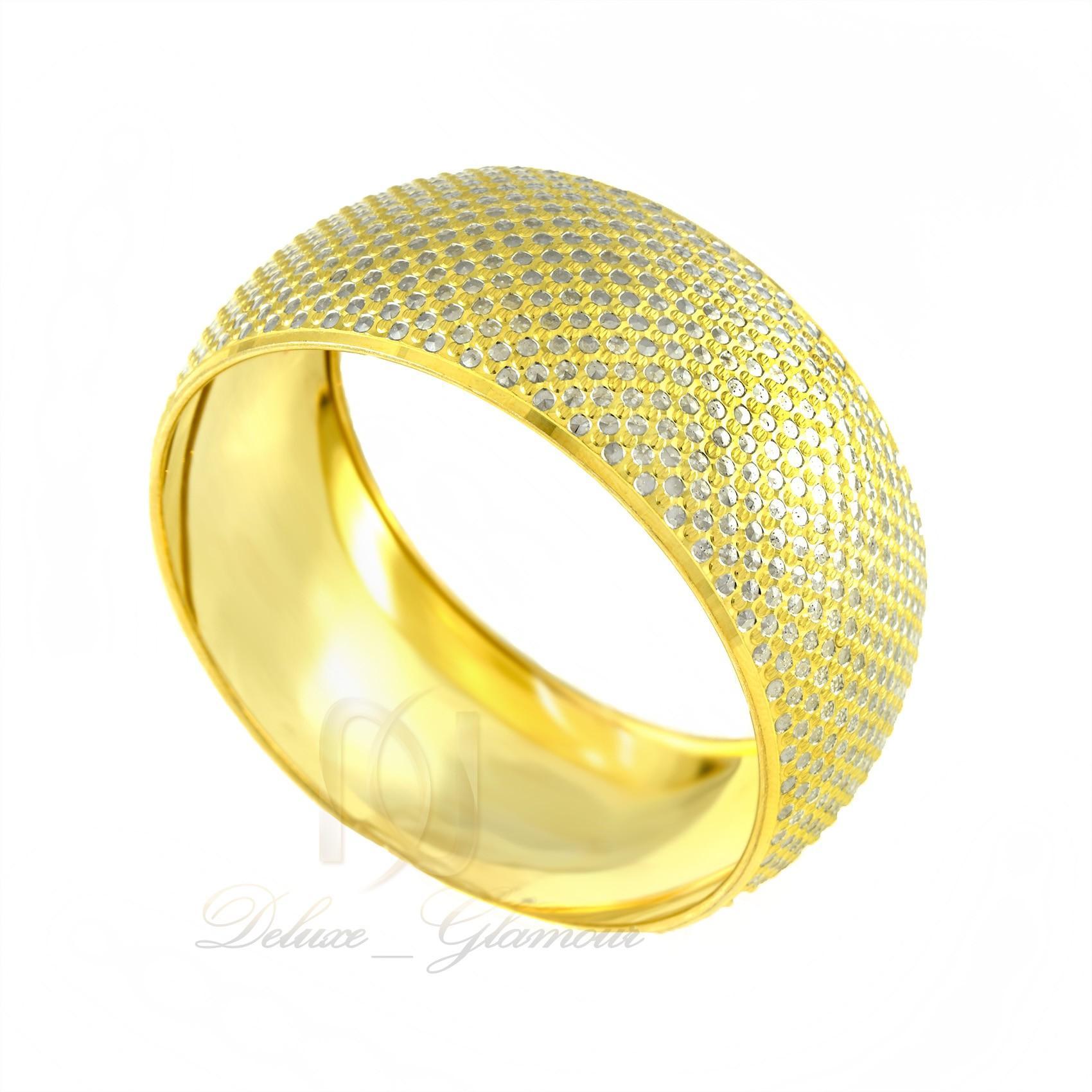 دستبند تك پوش نقره زنانه طرح طلا ds-n303 - عکس از بغل