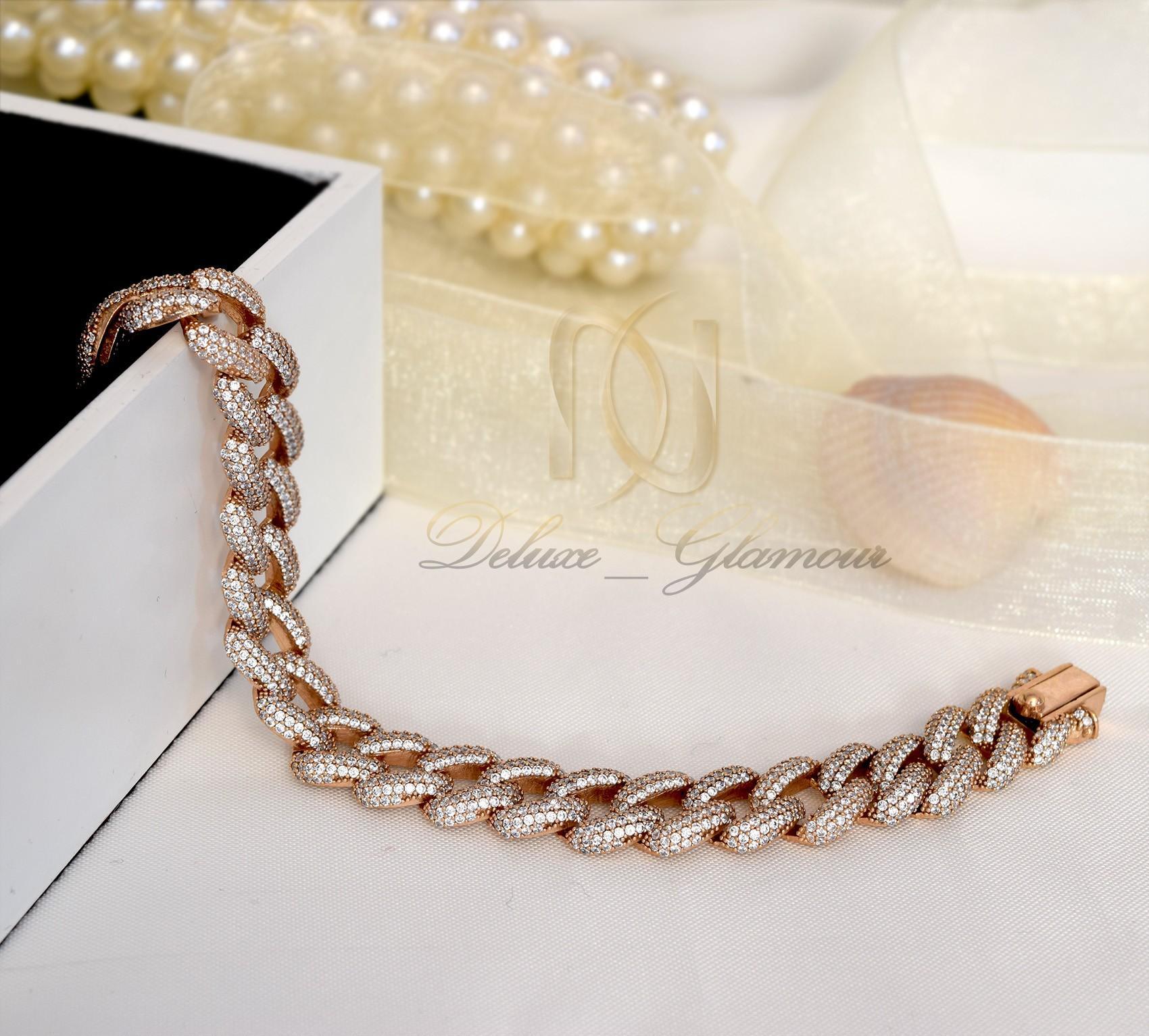 دستبند نقره زنانه رزگلد کارتیه Ds-n308 - نمای کلی