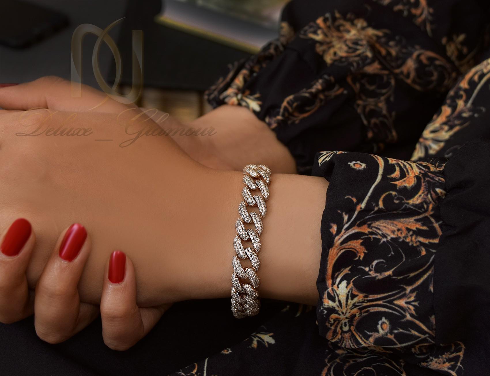 دستبند نقره زنانه رزگلد کارتیه Ds-n308 (3)