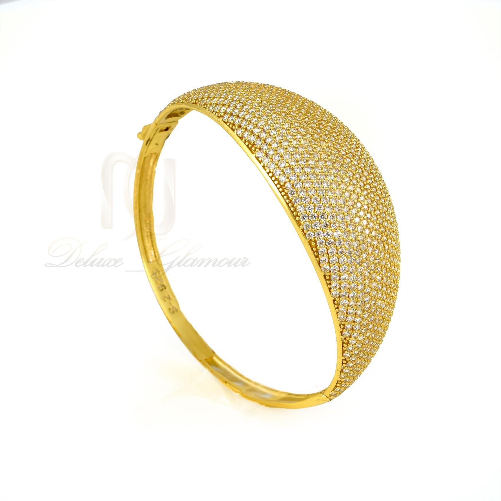 دستبند نقره زنانه طرح پرنسس ds-n305 از نماي روبرو