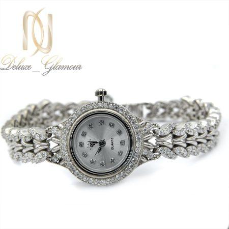 ساعت نقره زنانه جواهری صفحه گرد wh-n114