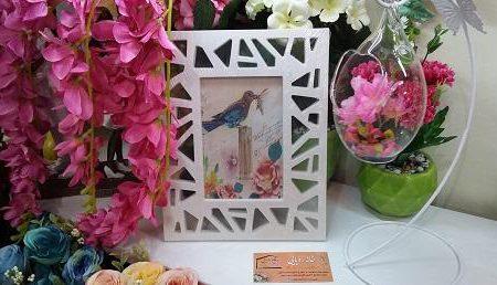قاب عکس رومیزی طرح مثلثی ka-n110 از نماي روبرو