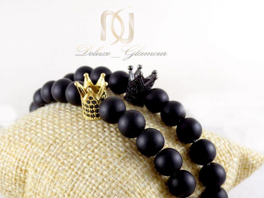 ست دستبند دخترانه و پسرانه طرح تاج اونیکس Ds-n298 - نمای دوتایی