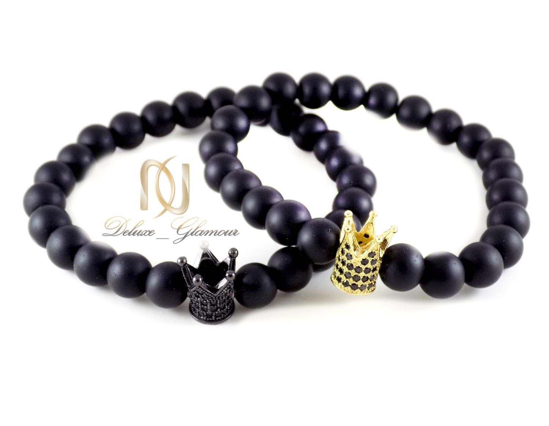 ست دستبند دخترانه و پسرانه طرح تاج اونیکس Ds-n298 - عکس اصلی