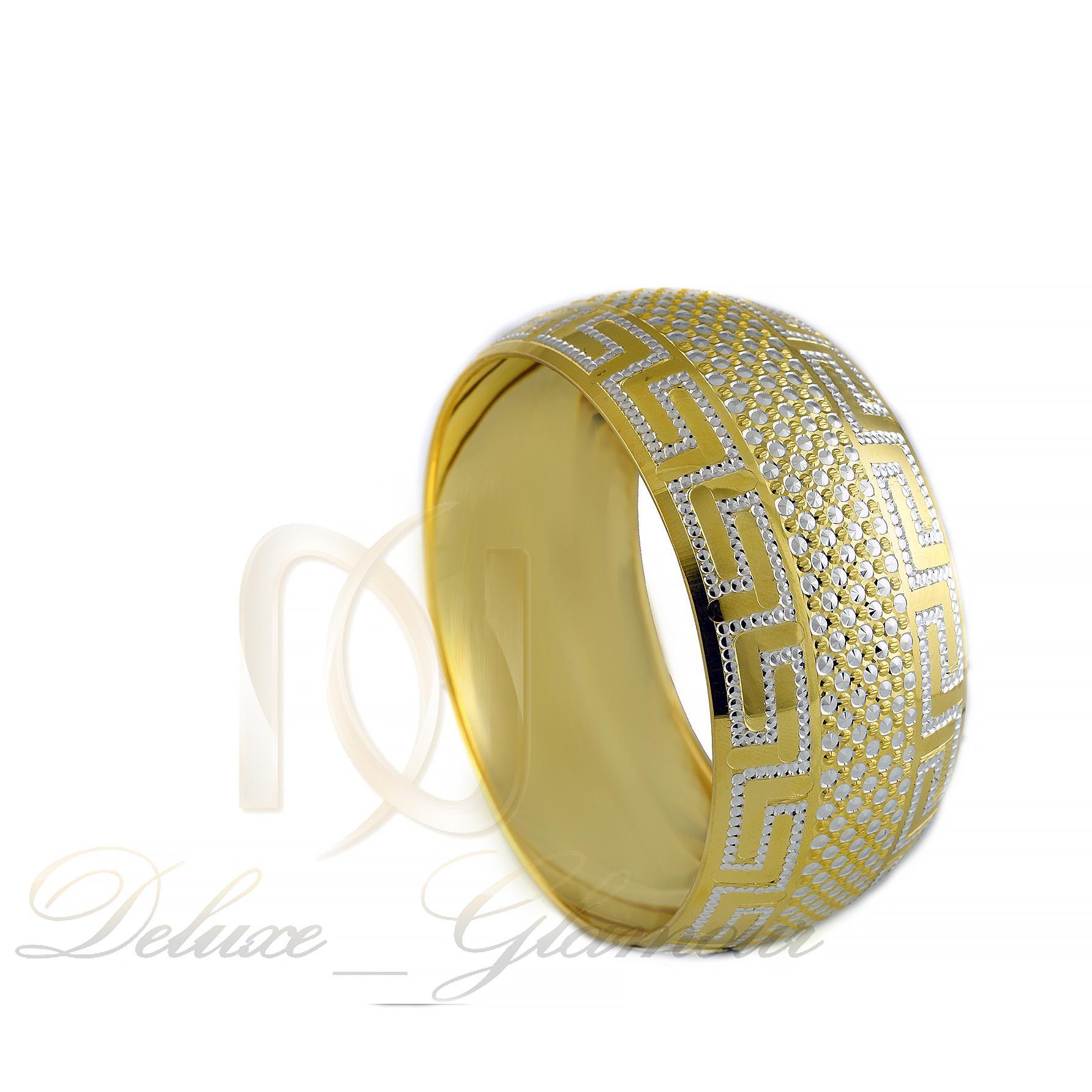 النگو تك پوش نقره طرح طلا al-n114 از نماي روبرو
