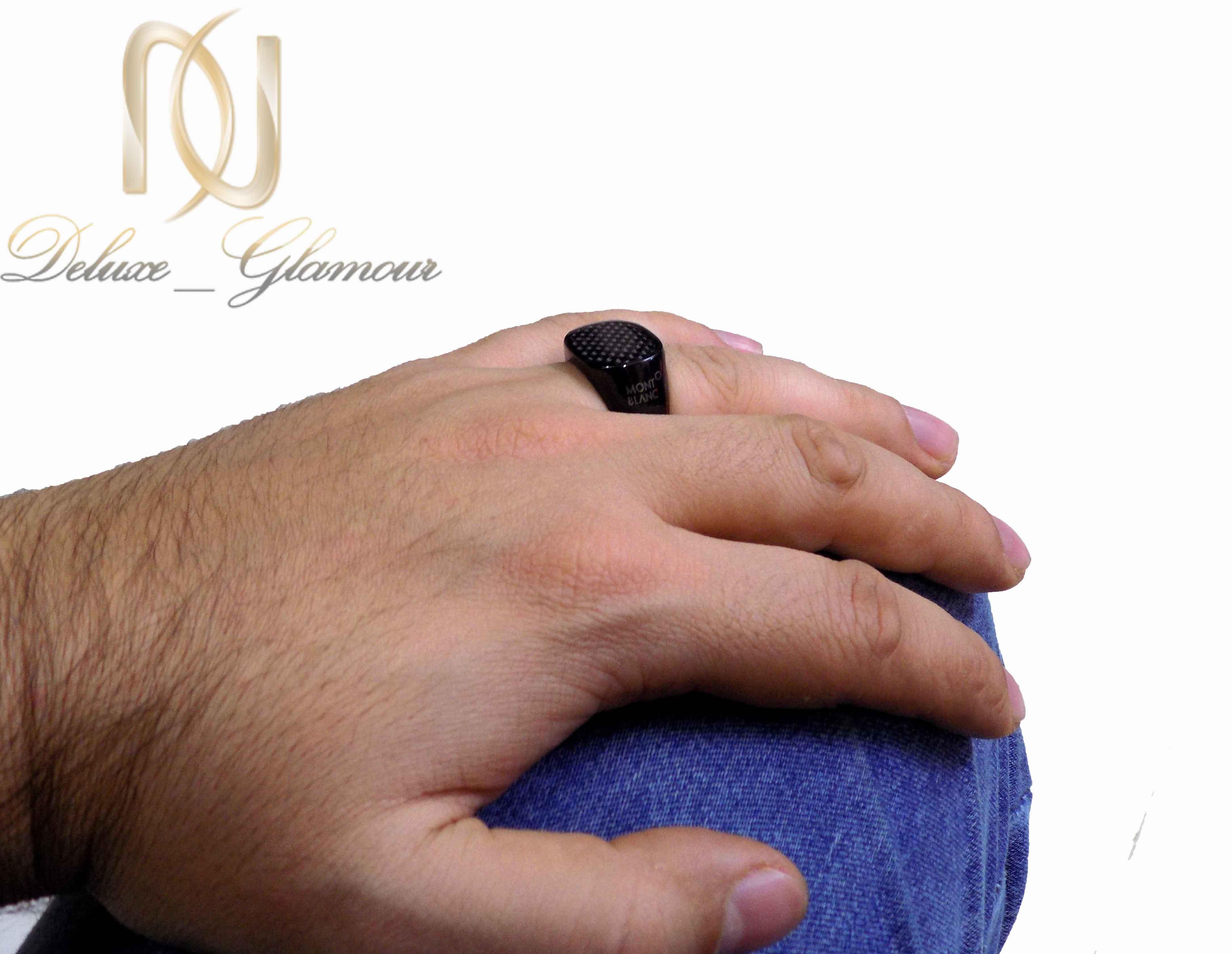 انگشتر مردانه مونت بلانک با تاج بیضی افقیRg-265 (3)