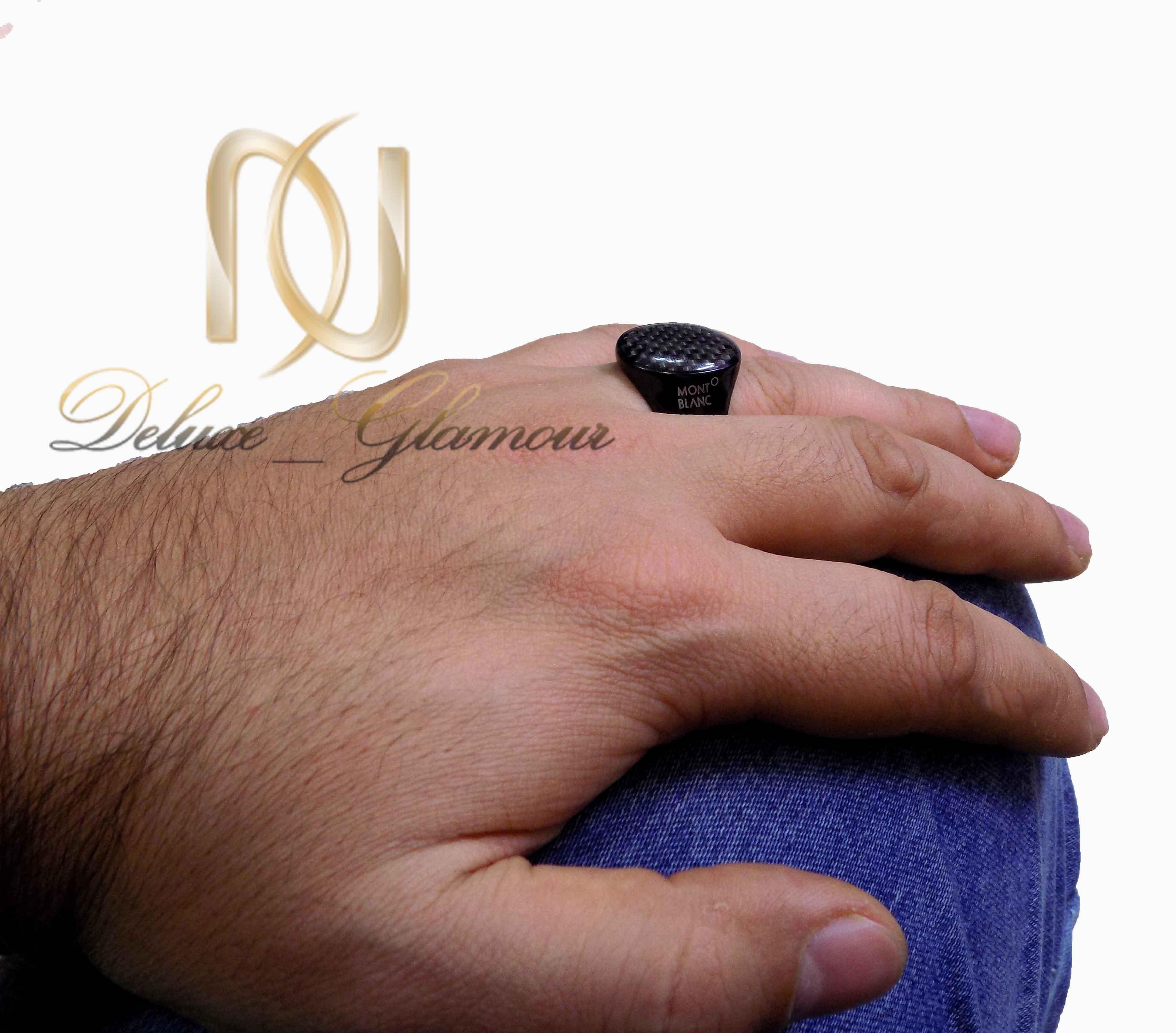 انگشتر مردانه مونت بلانک با تاج بیضی عمودیRg-266 (4)