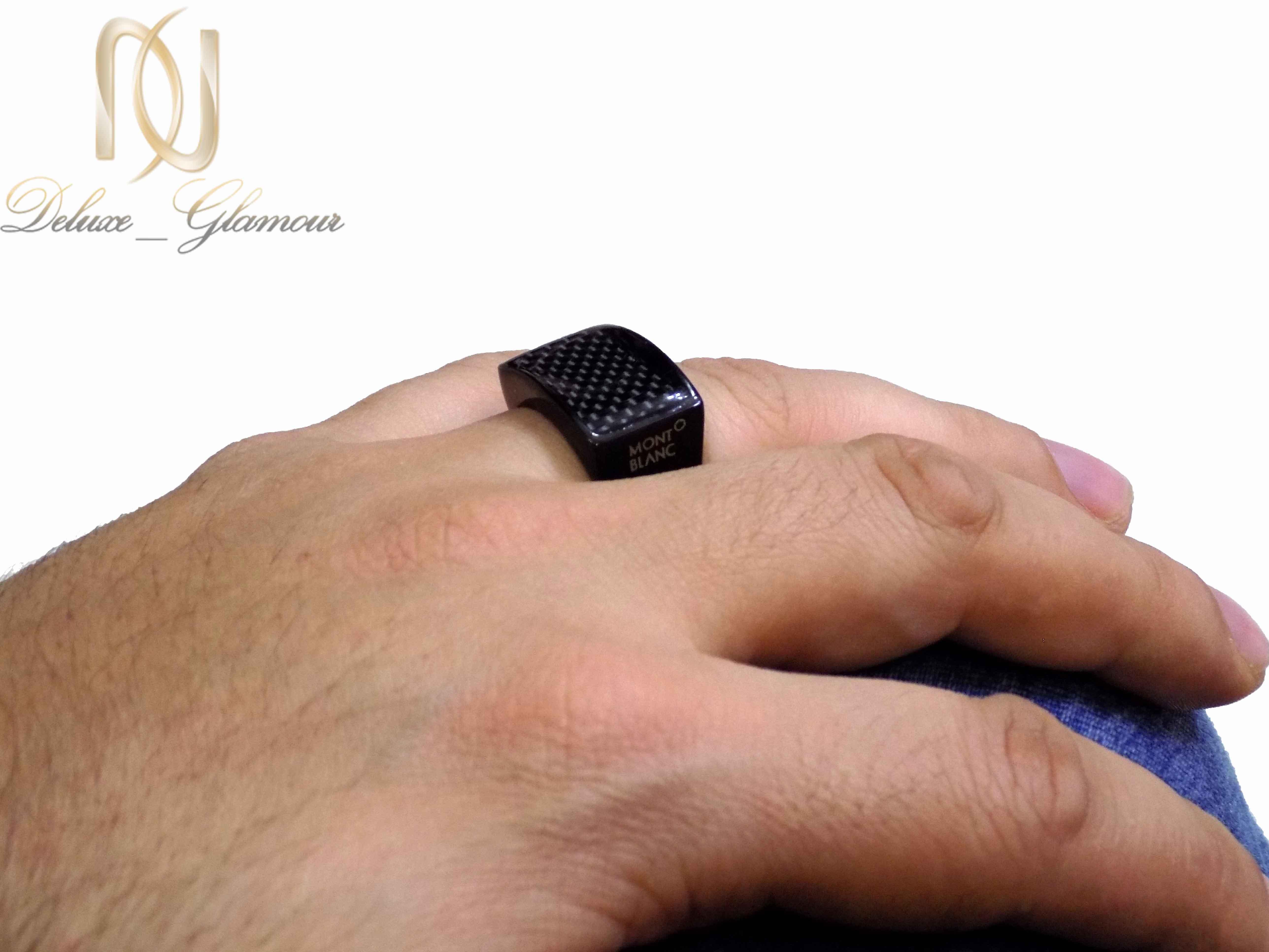 انگشتر مردانه مونت بلانک با تاج مستطیلیRg-267 (3)