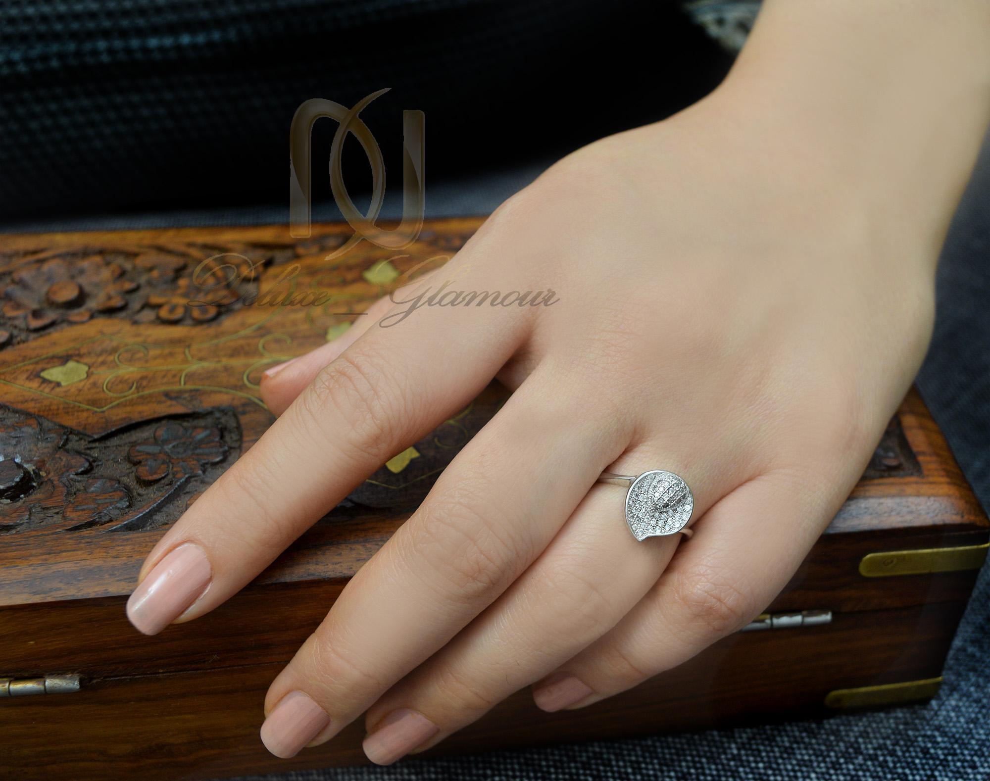 انگشتر نقره دخترانه طرح اشک rg-n258