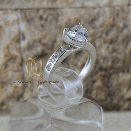 انگشتر نقره دخترانه طرح قلب RG-N346 از نماي روبرو