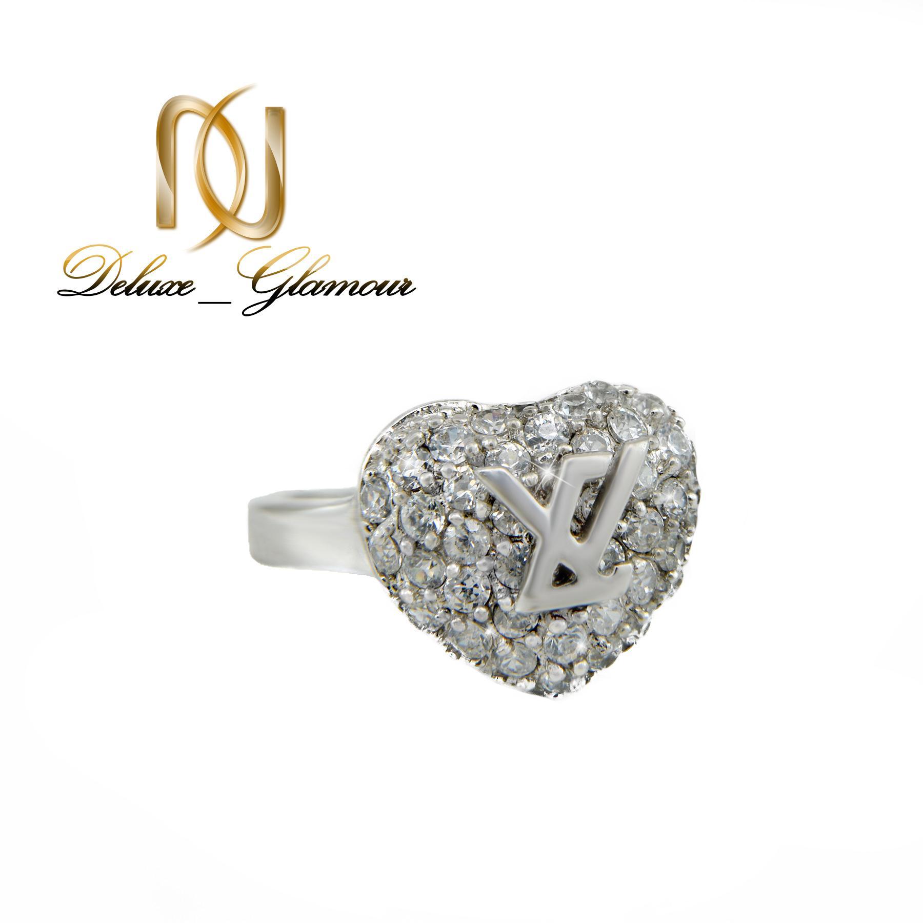 انگشتر نقره دخترانه طرح قلب rg-n257